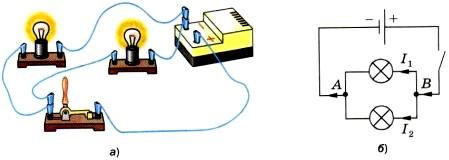 Параллельное соединение лампочек